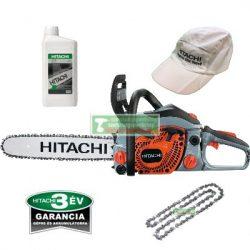 Hitachi CS40EA(400mm) benzinmotoros láncfűrész+ AJÁNDÉK Hitachi lánckenő olaj 1l +tartalék fűrészlánc+hitachi baseball sapka