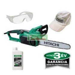 Hitachi CS 40SB elektromos láncfűrész+ajándék láncfűrészolaj 1l+védőszemüveg+hitachi baseball sapka