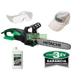 Hitachi CS40Y elektromos láncfűrész + AJÁNDÉK Hitachi lánckenő olaj 1 liter +védőszemüveg+baseball sapka