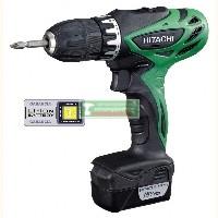 Hitachi DS10DAL akkus fúró-csavarbehajtó (2x1.5Ah Li-Ion)+lampa+koffer+bit készlet