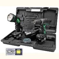 Hitachi DS14DVF3 (2x2.0Ah) akkus fúró-csavarbehajtó+akkus lámpa+bit készlet