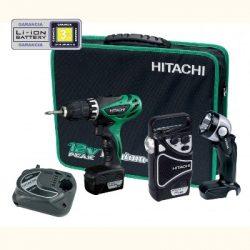 Hitachi KC10DHL-TL akkus fúró-csavarbehajtó készlet(2x1.5Ah akku+lámpa+rádió+töltő)