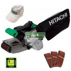 Hitachi SB8V2 Szalagcsiszoló+ ajándék csiszolószalag(3 db-os)-csomag+hitachi baseball sapka