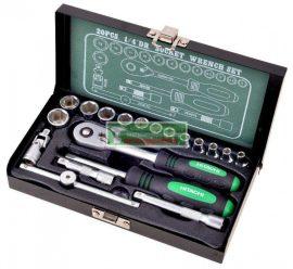 """Hitachi 1/4"""" dugókulcs készlet 20 darabos(402943)"""