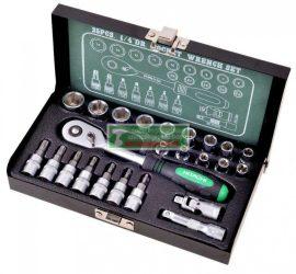 """Hitachi 1/4"""" dugókulcs készlet 25 darabos(402944)"""