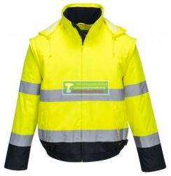 PORTWEST C464 Essential 2az 1-ben lathatósági télikabát-sárga***