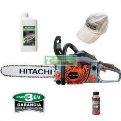 Hitachi CS33EB-WE benzinmotoros láncfűrész + AJÁNDÉK  Hitachi lánckenő olaj 1 liter+ketütemű olaj(714811)