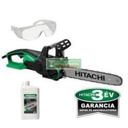 HiKOKI- Hitachi CS35Y elektromos láncfűrész + AJÁNDÉK Hitachi lánckenő olaj 1 liter + védőszemüveg
