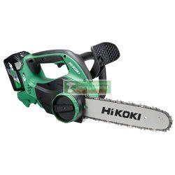 HiKOKI-Hitachi CS3630DA-BASIC MULTIVOLT 36V-os akkus láncfűrész géptest(töltő és akku nélkül szállítva)+ajándék lancolaj 1l+ A120 Kesztyű