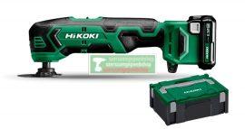 HiKOKI-Hitachi CV12DA-2.5AH 12V akkus multigép(2db 2,5Ah akku+töltő)+HITBOX+ ajándék védőkesztyű