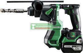 HiKOKI-Hitachi DH18DPA-5AH Akkus fúrókalapács szénkefementes HITBOX-ban(2db 5Ah akku+töltő)+Ajándék SDS Plus fúró klt+vadászkés