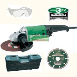 HiKOKI-Hitachi G23SW2 sorokcsiszoló kofferben + védőszemüveg +gyémánttárcsa (2200W/230mm)