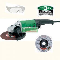 Hitachi G23SWU sorokcsiszoló + védőszemüveg+vágótárcsa (230mm)+Hitachi baseball sapka
