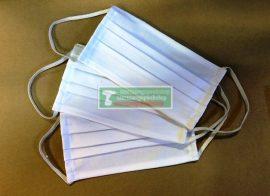 Szájmaszk gumis, mosható, textil (3db/csomag)***