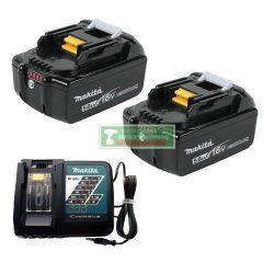 Makita 2db BL1840B akku szett LXT 18V/4Ah + DC18RC töltő MAKPAC kofferban